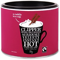 Clipper Fairtrade Hot Chocolate - 1kg Tin