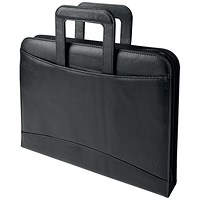 5 Star Conference 4 Ring Binder with Handles, W275xH377mm, Black
