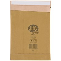Jiffy No.2 Padded Bag Envelopes, 205x245mm, Brown, Pack of 100