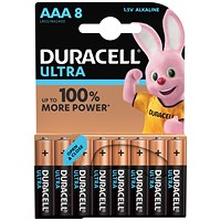 Duracell Ultra Power MX2400 Alkaline Battery / 1.5V / AAA / Pack of 8