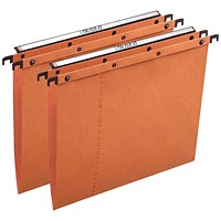Elba Ultimate A20 Suspension Files, V Base, 15mm Capacity, Foolscap, Orange, Pack of 25