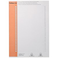 Elba Polypro Lateral File Inserts, 31 tabs per sheet, Pack of 10 sheets