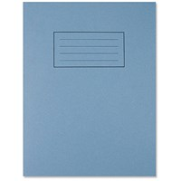 Silvine Ruled Exercise Book, 229x178mm, 80 Pages, Blue, Pack of 10