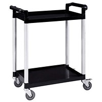 5 Star 2 Shelf Utility Tray Trolley - Capacity 100kg