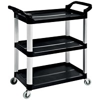 5 Star 3 Shelf Utility Tray Trolley - Capacity 150kg