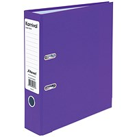 Rexel Karnival A4 Lever Arch Files, Violet, Pack of 10
