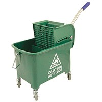Mobile Mop Bucket with Handle, 20 Litre, Green