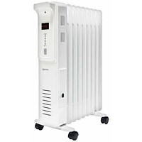 Igenix Radiator Oil Filled Mobile with Digital Thermostat 3 Heat Settings 2500W
