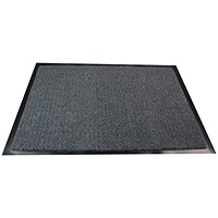 Floortex Indoor Entrance Mat, Hard Wearing, 800x1200mm, Grey