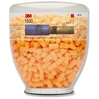3M Hypoallergenic Foam Ear Plugs, Tapered, Refill Bottle, 500 Pairs