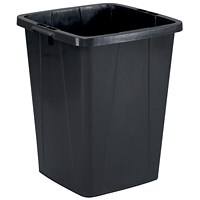 Durable Durabin Slim Bin, 90 Litre, Black