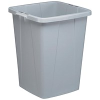 Durable Durabin Slim Bin, 90 Litre, Grey