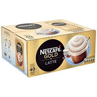 Nescafe Latte Instant Coffee / One Cup Sachets - Pack of 40