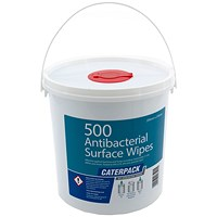 Robinson Young Caterpack Antibacterial Disinfectant Wipes, 200x230mm, Pack of 500