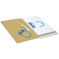 Self-adhesive File Fasteners, 3 Part, Pack of 100