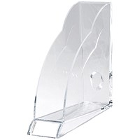 Rexel Nimbus Magazine Rack with Front Indexing Tab, A4, Clear