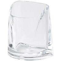 Rexel Nimbus Large Acrylic Pencil Cup - Clear