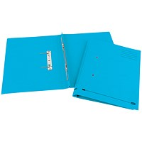 Elba Boston Transfer Files, 320gsm, Foolscap, Blue, Pack of 25