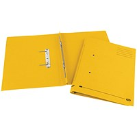 Elba Boston Transfer Files, 320gsm, Foolscap, Yellow, Pack of 25