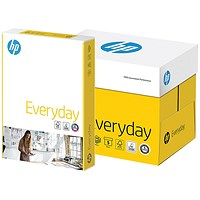 HP A4 Everyday Paper, White, 75gsm, Box (5 x 500 Sheets)