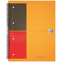 Oxford International ActiveBook, A5+, Ruled with integral Pocket, 160 Pages, Pack of 5