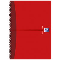 Oxford Office Soft Cover Wirebound Notebook, A4, 180 Pages, Random Colour, Pack of 5