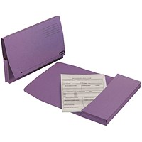Elba Document Wallets Full Flap, 285gsm, Foolscap, Mauve, Pack of 50