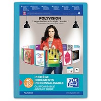 Elba Polyvision Display Book, 20 Clear Pockets, Blue, A4