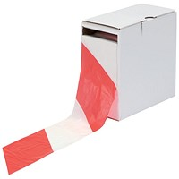 5 Star Barrier Tape in Dispenser Box 70mmx500m Red and White