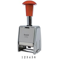 Trodat 5756/M Metal Self-inking Sequential Numberer Stamp - 8 Adjustments