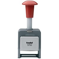Trodat 5756/P Plastic Self-inking Sequential Numberer Stamp - 8 Adjustments