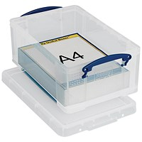 Really Useful Storage Box, 9 Litre, Clear