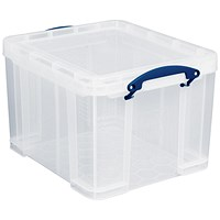Really Useful Storage Box, 35 Litre, Clear