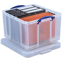 Really Useful Storage Box, 42 Litre, Clear