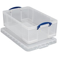 Really Useful Storage Box, 50 Litre, Clear