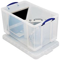 Really Useful Storage Box / 84 Litre / Clear