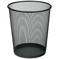 5 Star Mesh Waste Bin, Lightweight, Scratch Resistant, Black
