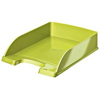 Leitz Bright Stackable Letter Tray - Glossy Metallic Green