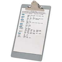 Steel Enamelled Clipboard, Foolscap, Grey