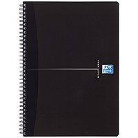 Oxford Office Soft Cover Wirebound Notebook, A5, Ruled, 180 Pages, Smart Black, Pack of 5