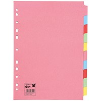 5 Star Subject Dividers, 10-Part, A4, Assorted