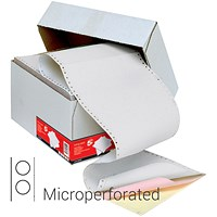 5 Star Computer Listing Paper, 3 Part, A4 (11.66 inch x 235mm), Microperforated, White, Pink & Yellow Sheets, Box (700 Sheets)