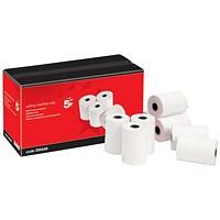 5 Star Printing Paper Rolls, WxDxCore: 57x57x12.7mm, White, Pack of 20