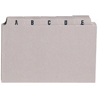 5 Star Guide Cards, A-Z, 127x76mm, Buff, Pack of 25