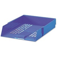 5 Star Letter Tray, High-impact Polystyrene, Foolscap, Blue