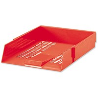 5 Star Letter Tray, High-impact Polystyrene, Foolscap, Red