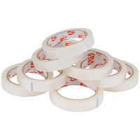 5 Star Large Clear Tape Rolls / 19mm x 66m / Pack of 8