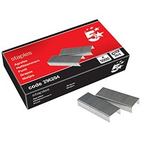 5 Star No. 56 Staples (26/6mm) - Box of 5000