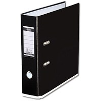 Elba MyColour A4 Lever Arch File, Plastic, 80mm Spine, Black & White