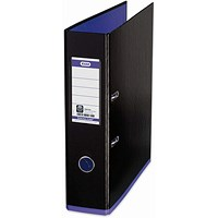 Elba MyColour A4 Lever Arch File, Plastic, 80mm Spine, Black & Purple